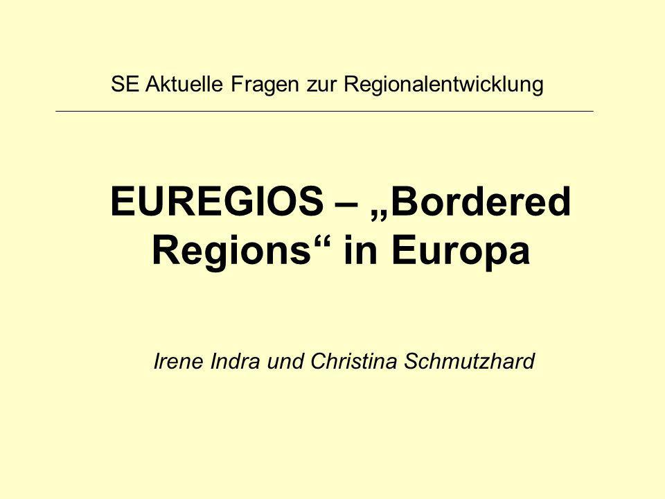 "EUREGIOS – ""Bordered Regions in Europa"