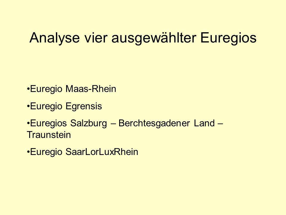 Analyse vier ausgewählter Euregios