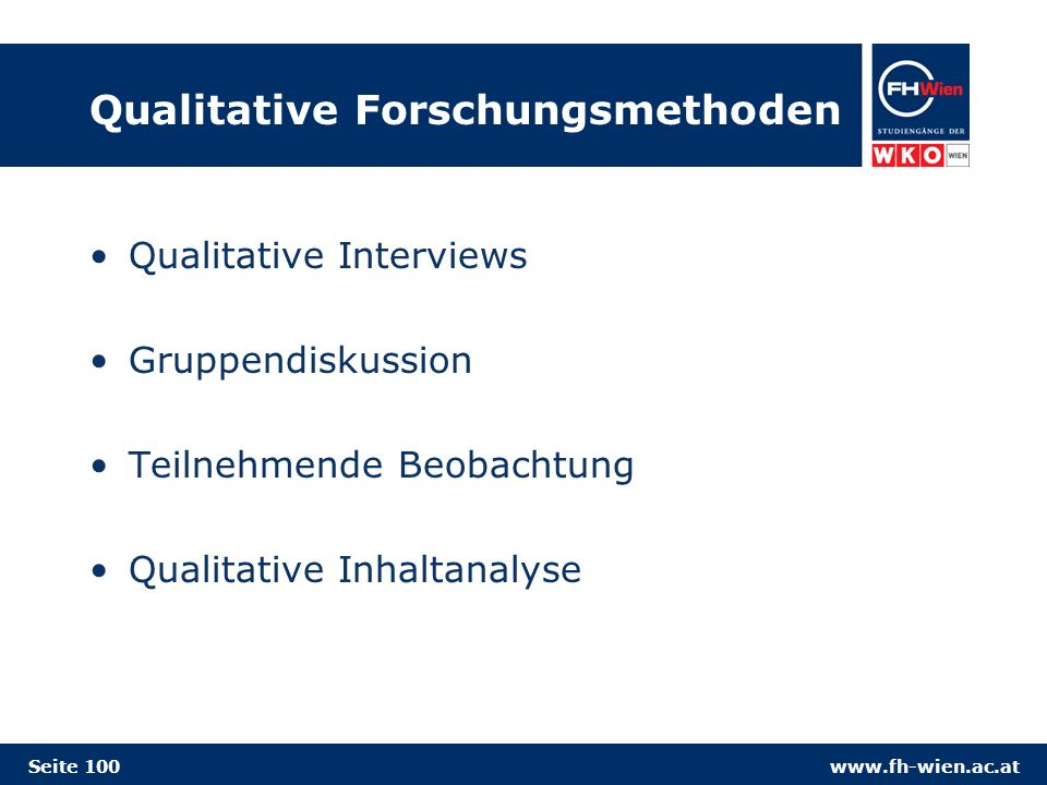 Qualitative Forschungsmethoden