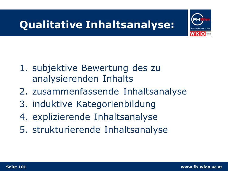 Qualitative Inhaltsanalyse: