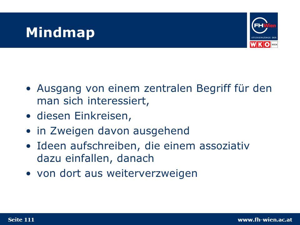 Mindmap Ausgang von einem zentralen Begriff für den man sich interessiert, diesen Einkreisen, in Zweigen davon ausgehend.