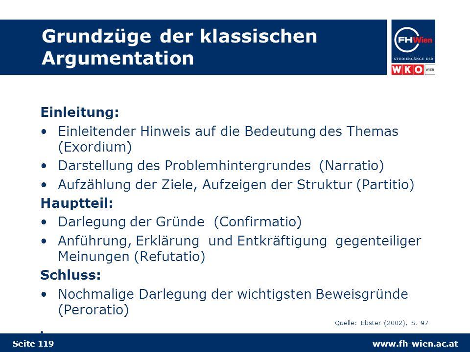 Grundzüge der klassischen Argumentation