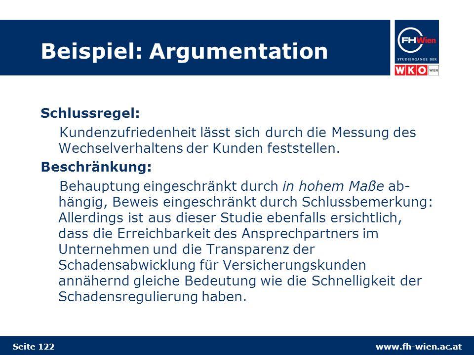 Beispiel: Argumentation