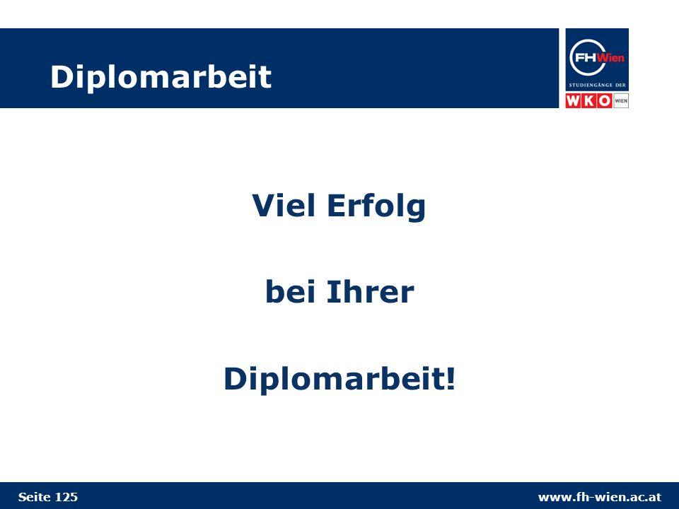 Viel Erfolg bei Ihrer Diplomarbeit!