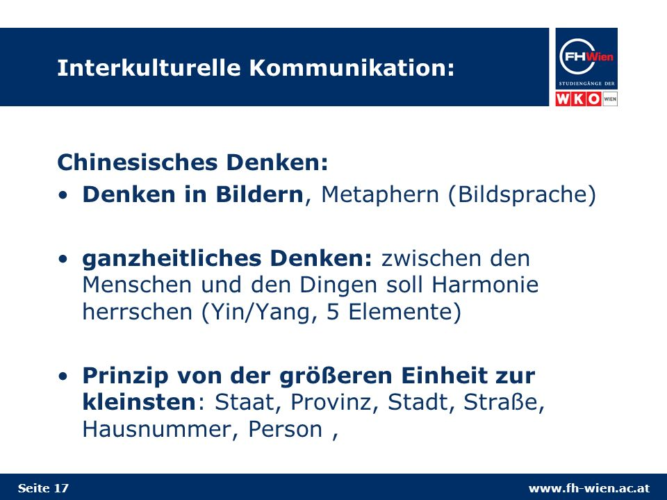 Interkulturelle Kommunikation: