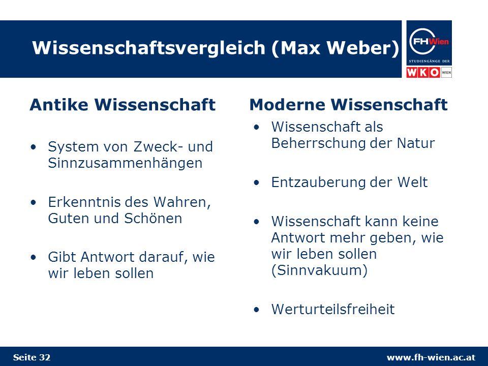 Wissenschaftsvergleich (Max Weber)