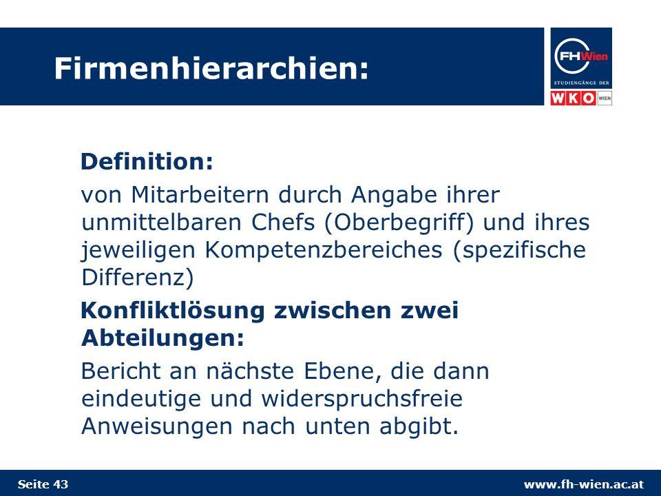 Firmenhierarchien: