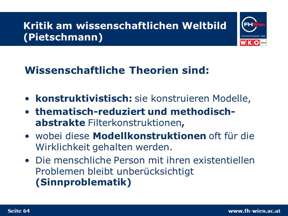 Kritik am wissenschaftlichen Weltbild (Pietschmann)
