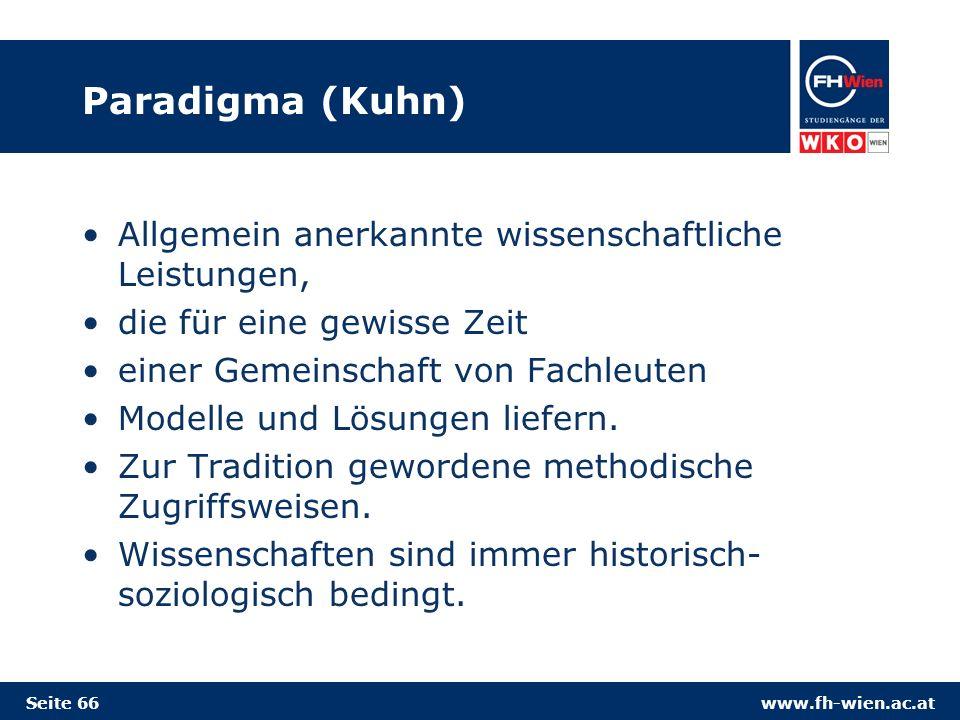 Paradigma (Kuhn) Allgemein anerkannte wissenschaftliche Leistungen,