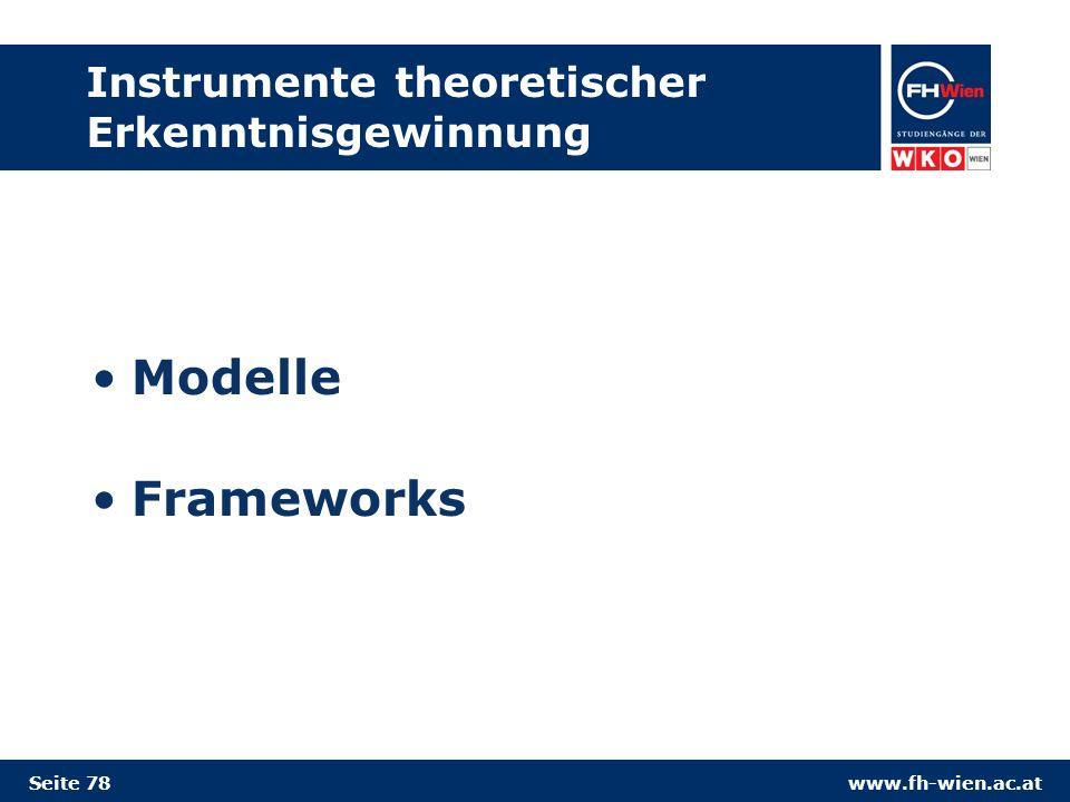 Instrumente theoretischer Erkenntnisgewinnung