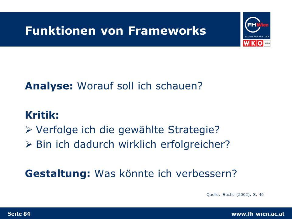 Funktionen von Frameworks