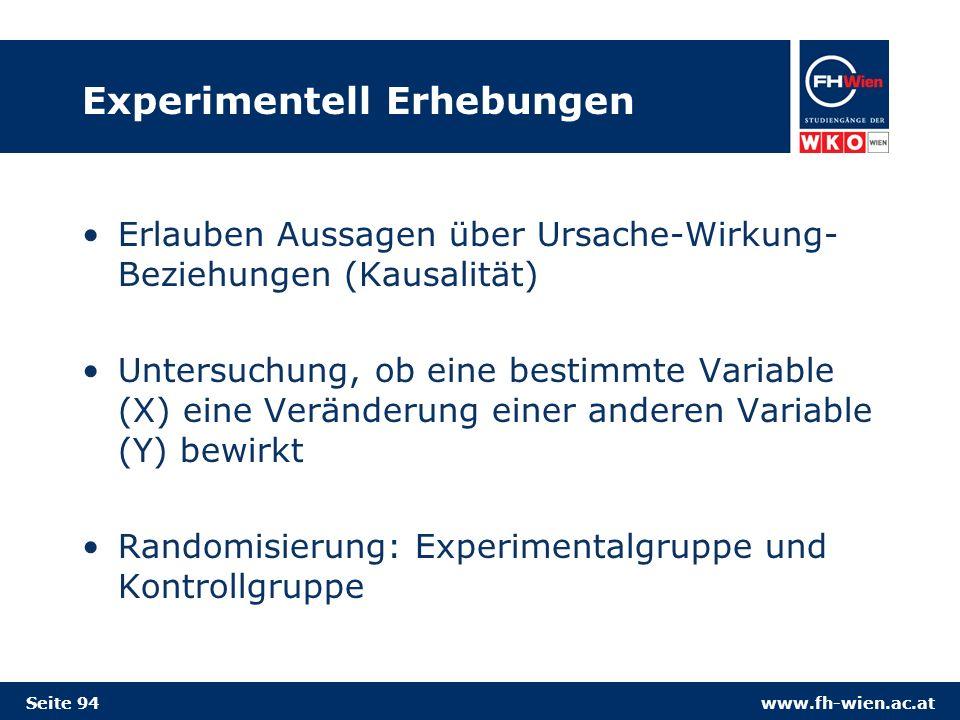 Experimentell Erhebungen