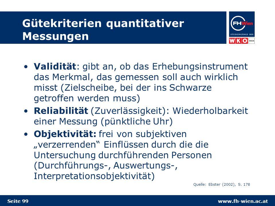 Gütekriterien quantitativer Messungen