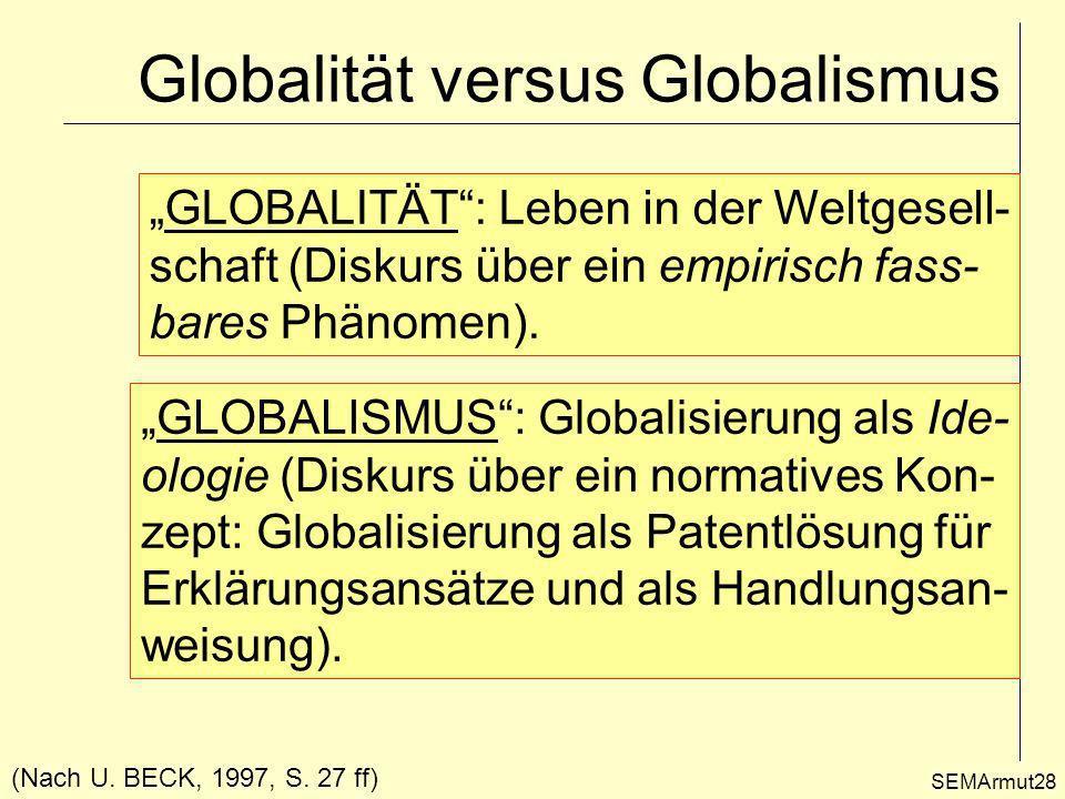 Globalität versus Globalismus