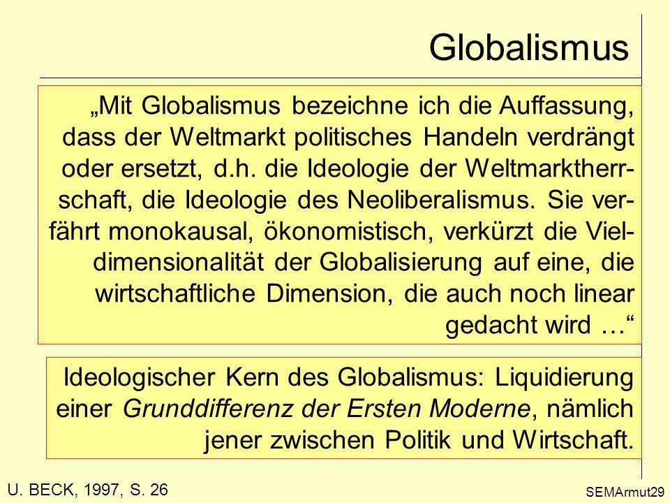 """Globalismus """"Mit Globalismus bezeichne ich die Auffassung,"""
