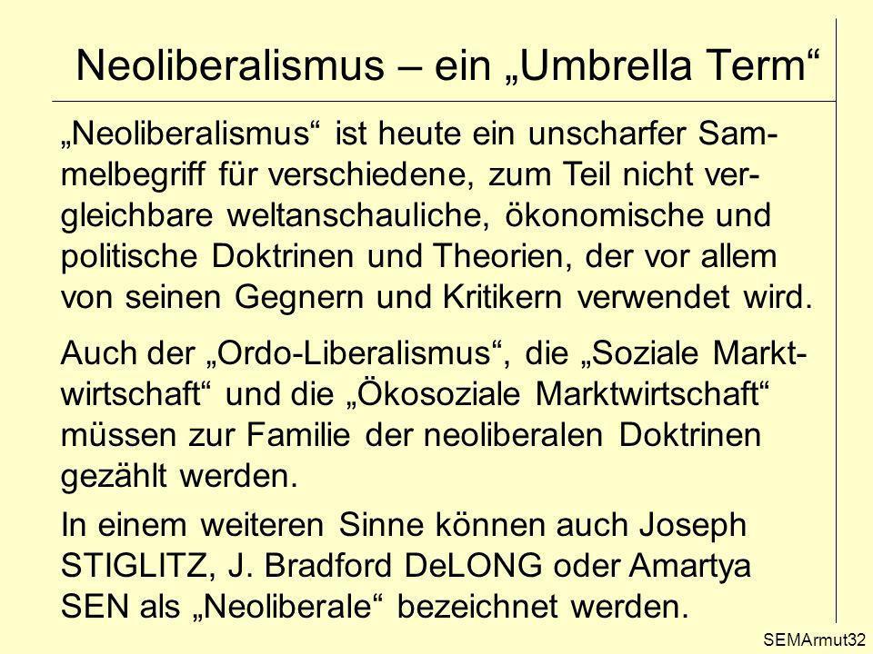 "Neoliberalismus – ein ""Umbrella Term"
