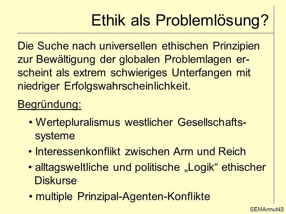 Ethik als Problemlösung