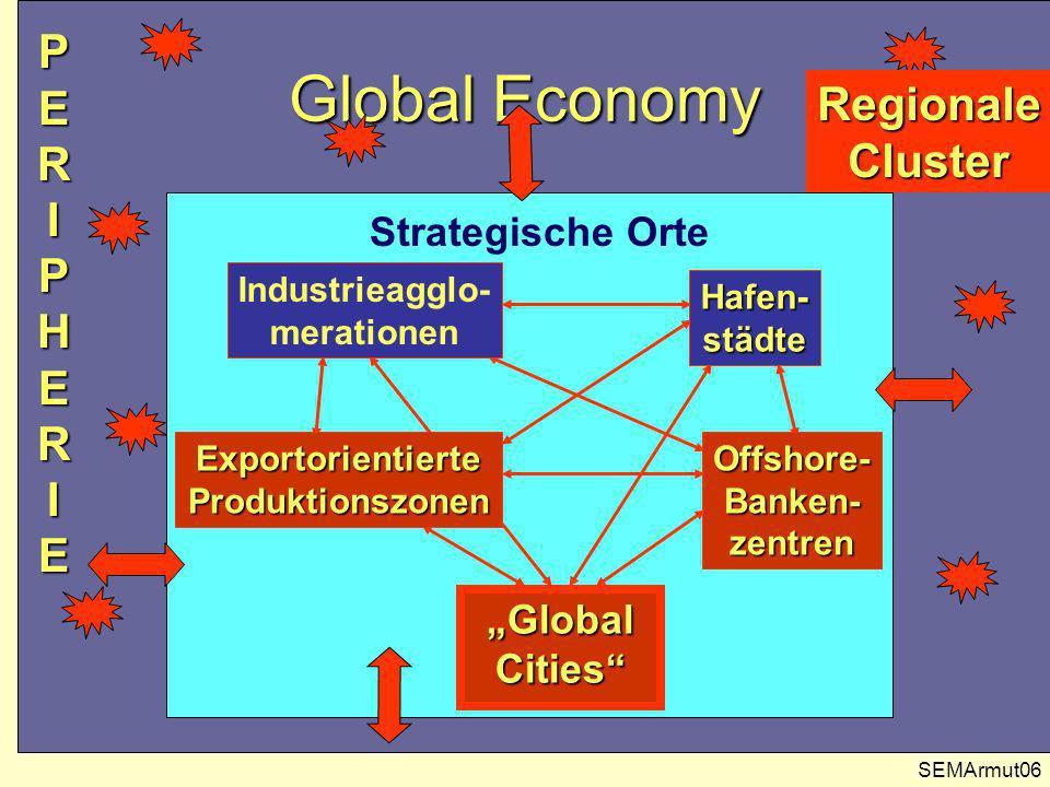 Global Economy P E R I P H E R I E Regionale Cluster Strategische Orte