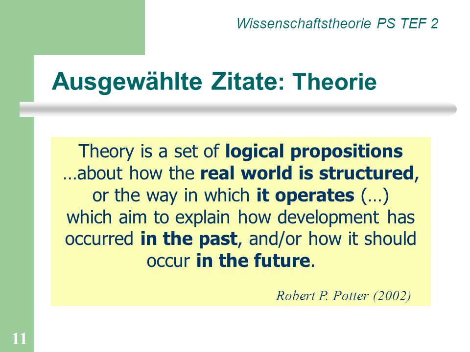 Ausgewählte Zitate: Theorie