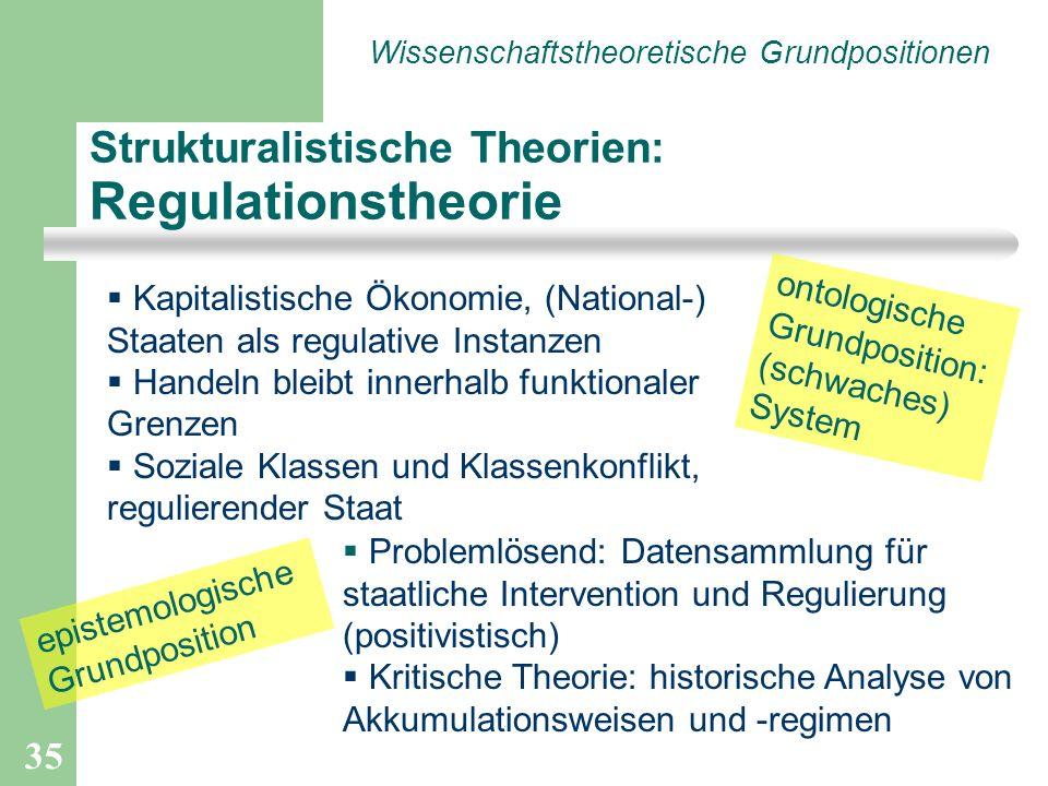 Strukturalistische Theorien: Regulationstheorie