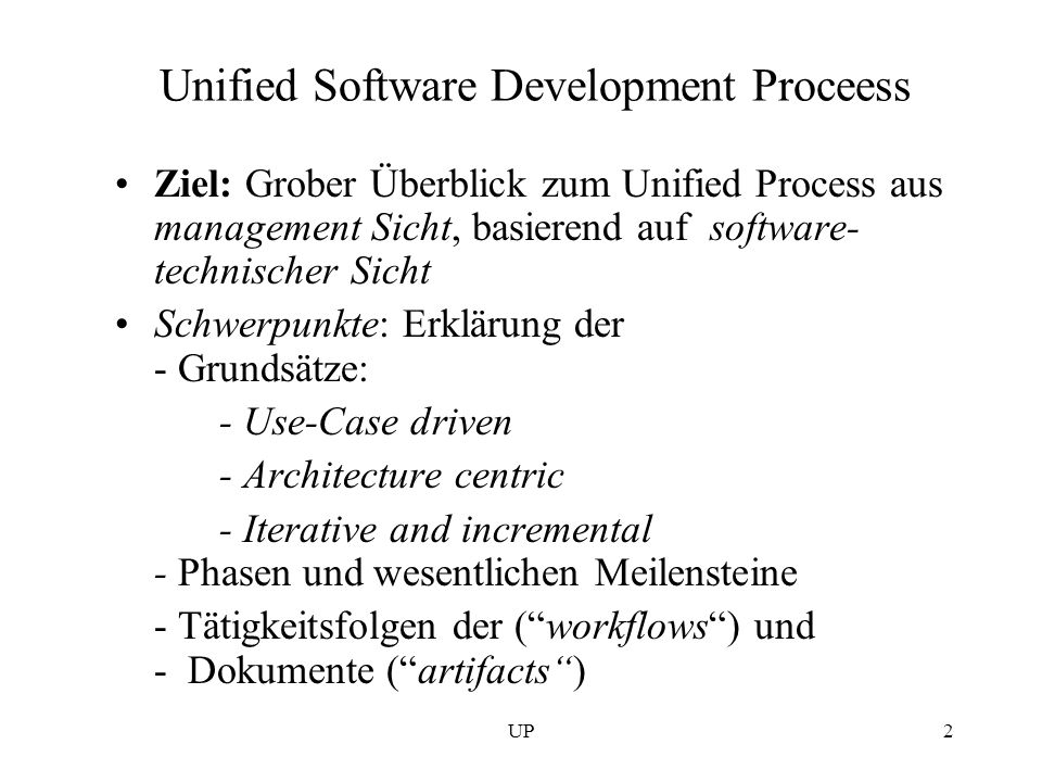 Unified Software Development Proceess