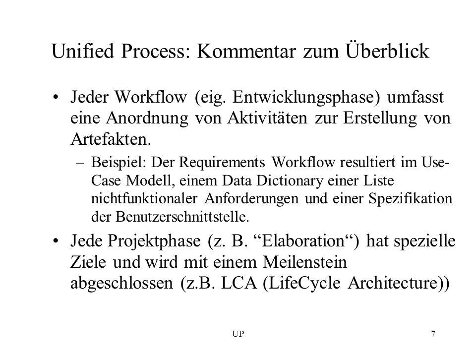 Unified Process: Kommentar zum Überblick