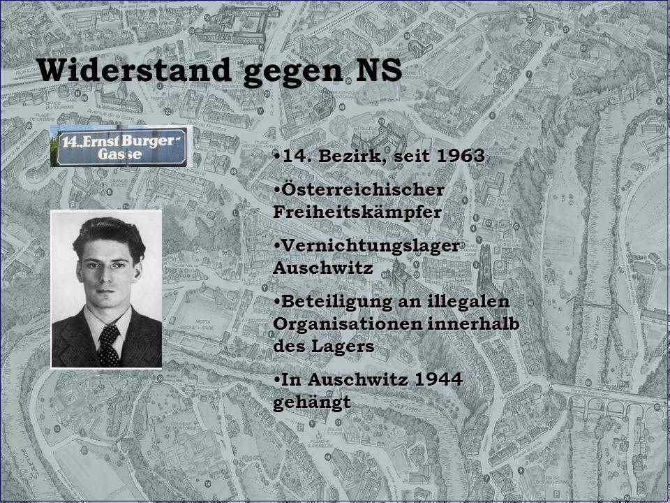 Widerstand gegen NS 14. Bezirk, seit 1963