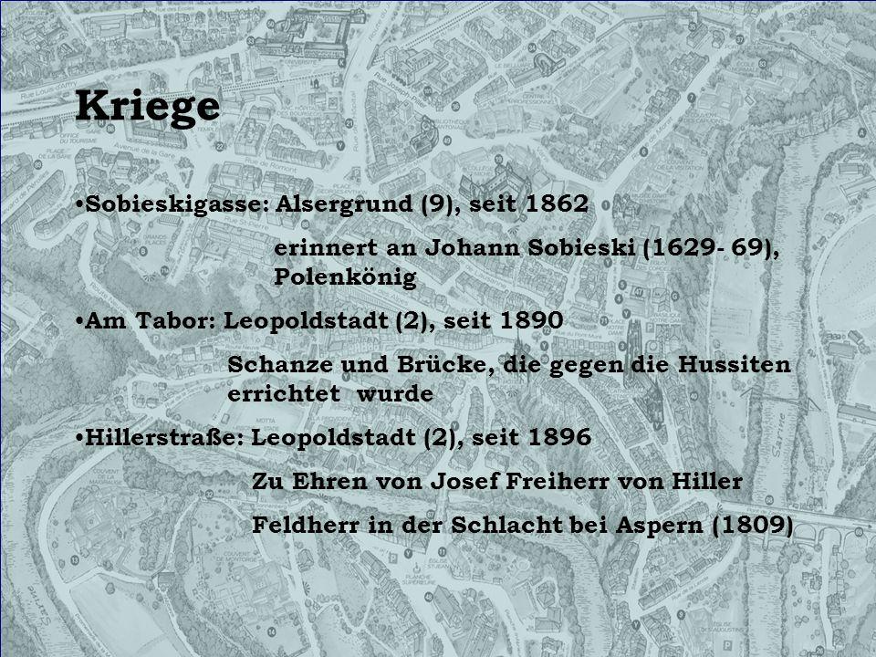 Kriege Sobieskigasse: Alsergrund (9), seit 1862