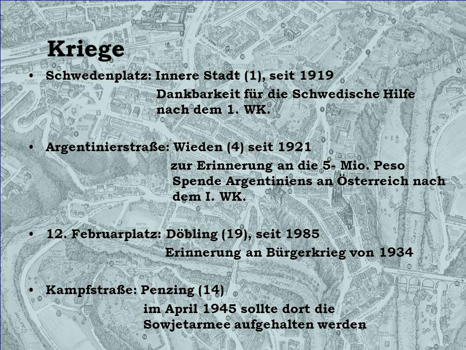 Kriege Schwedenplatz: Innere Stadt (1), seit 1919