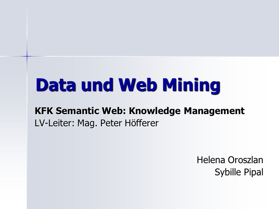 Data und Web Mining KFK Semantic Web: Knowledge Management
