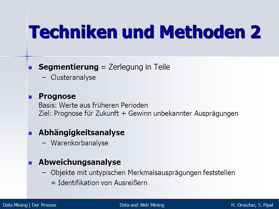 Techniken und Methoden 2