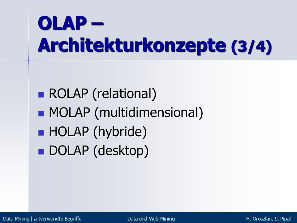 OLAP – Architekturkonzepte (3/4)