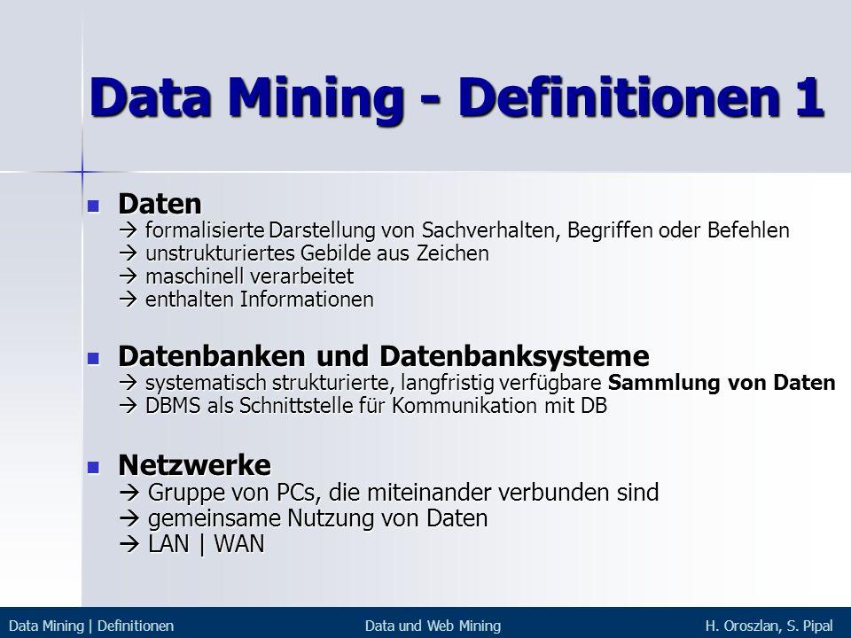 Data Mining - Definitionen 1