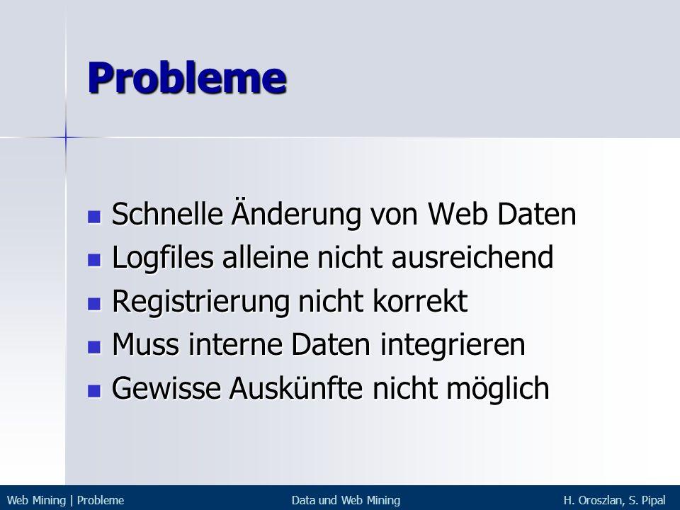 Probleme Schnelle Änderung von Web Daten