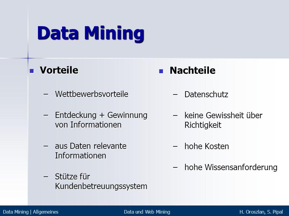 Data Mining Vorteile Nachteile Wettbewerbsvorteile Datenschutz