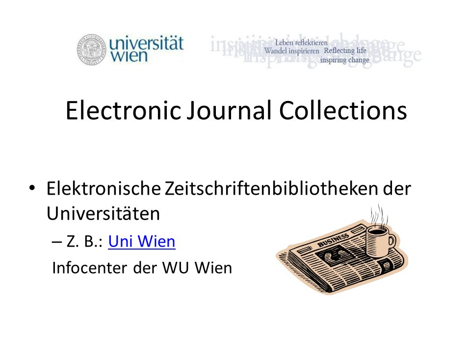Electronic Journal Collections