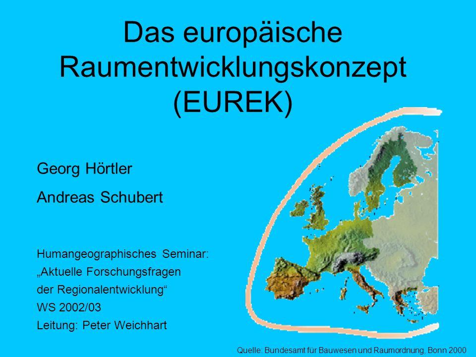 Das europäische Raumentwicklungskonzept (EUREK)