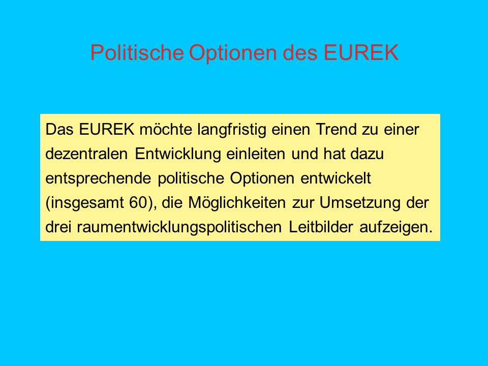 Politische Optionen des EUREK