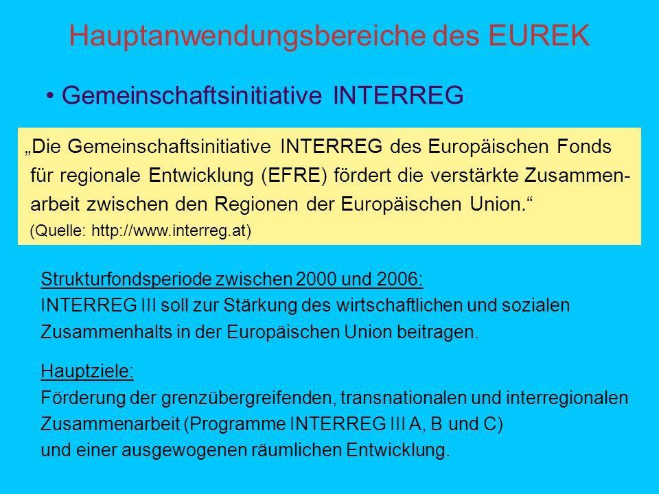 Hauptanwendungsbereiche des EUREK