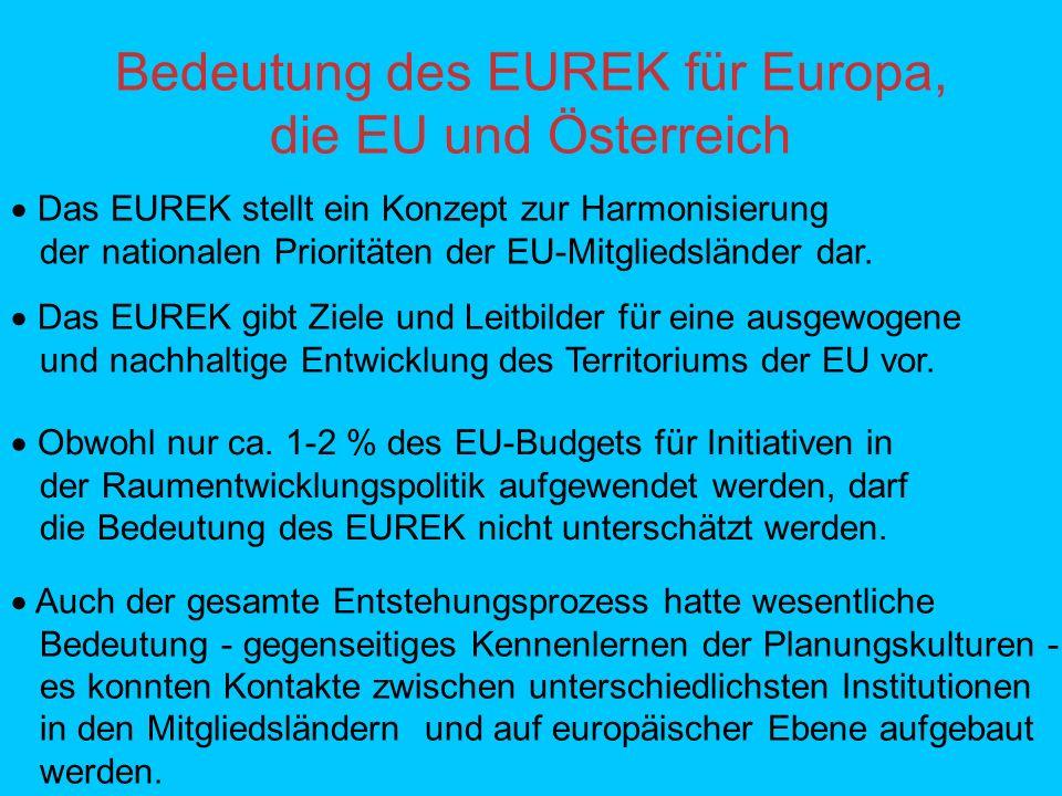 Bedeutung des EUREK für Europa, die EU und Österreich