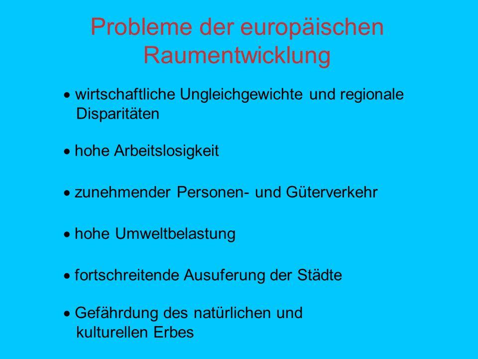 Probleme der europäischen Raumentwicklung