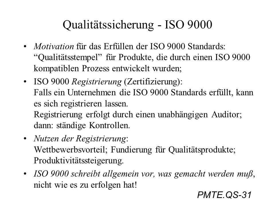 Qualitätssicherung - ISO 9000
