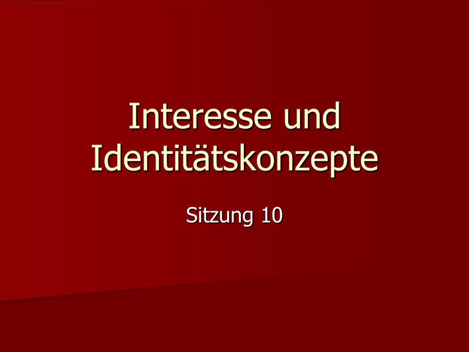 Interesse und Identitätskonzepte