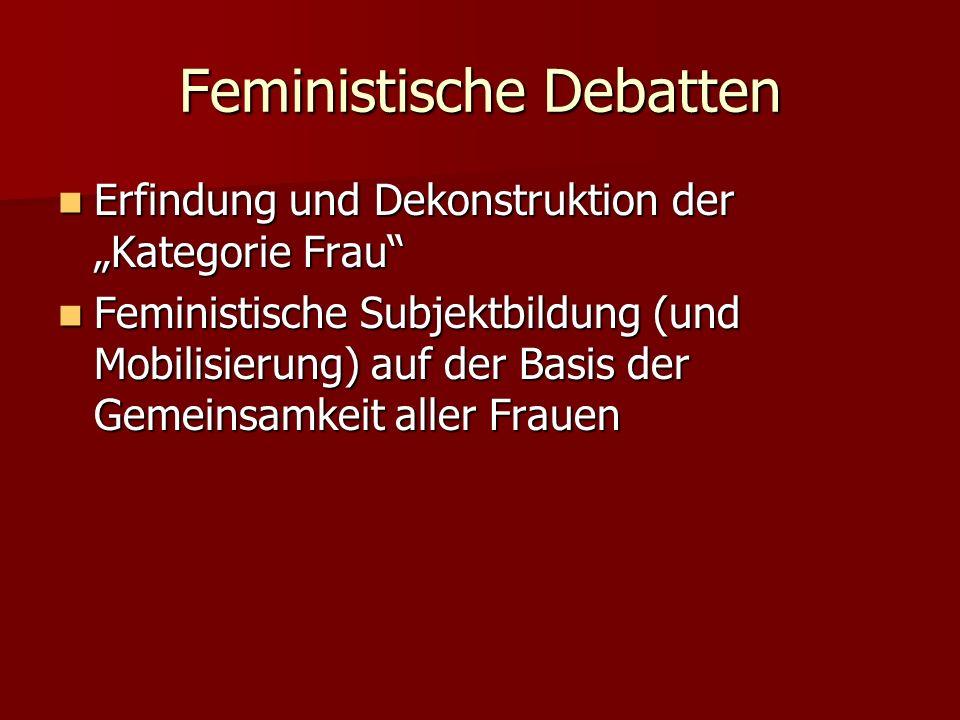 Feministische Debatten