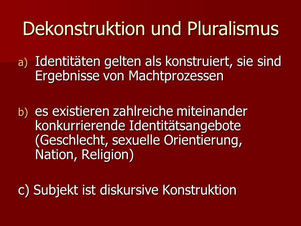 Dekonstruktion und Pluralismus
