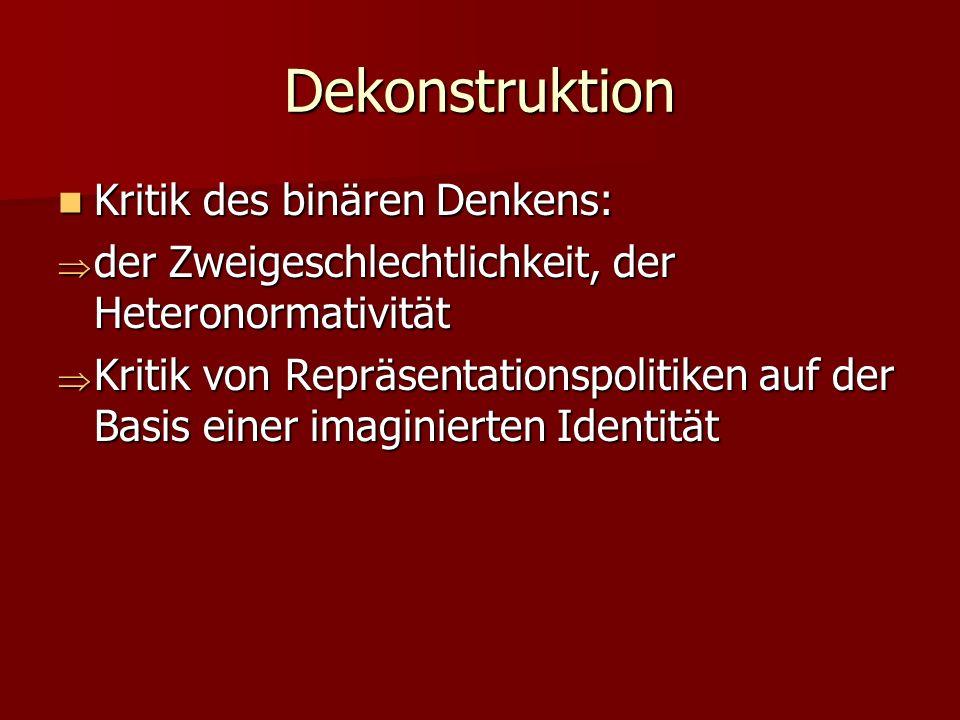 Dekonstruktion Kritik des binären Denkens: