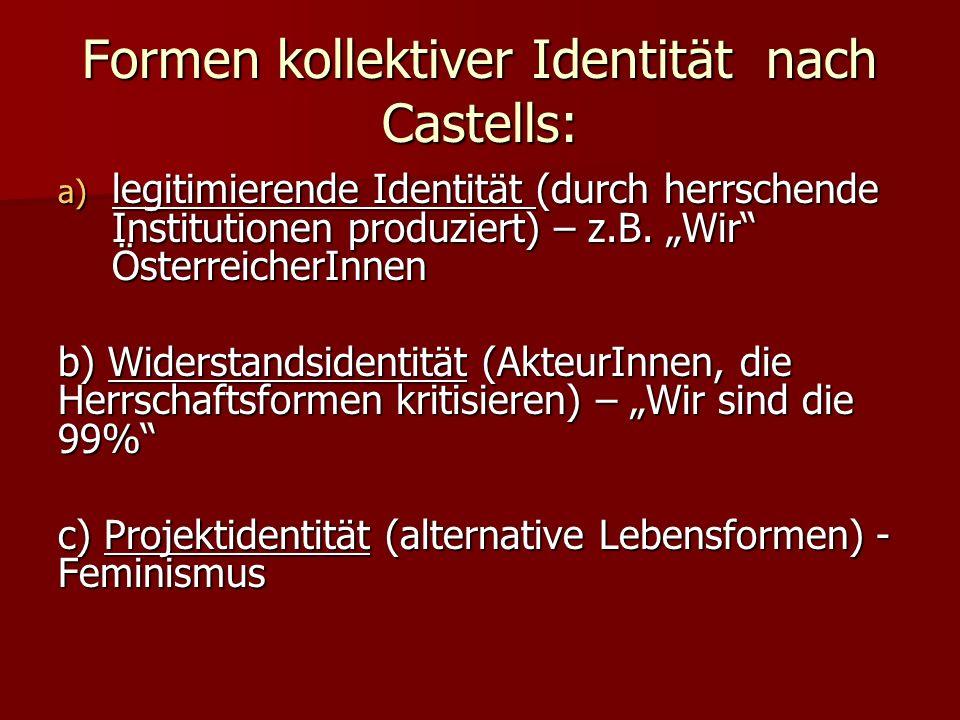 Formen kollektiver Identität nach Castells: