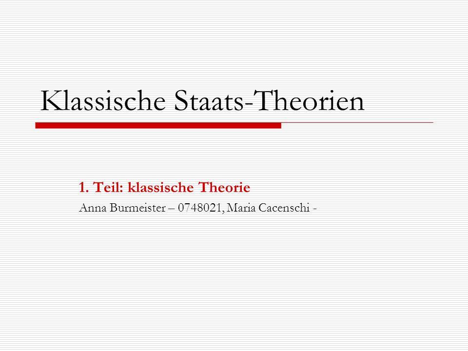 Klassische Staats-Theorien