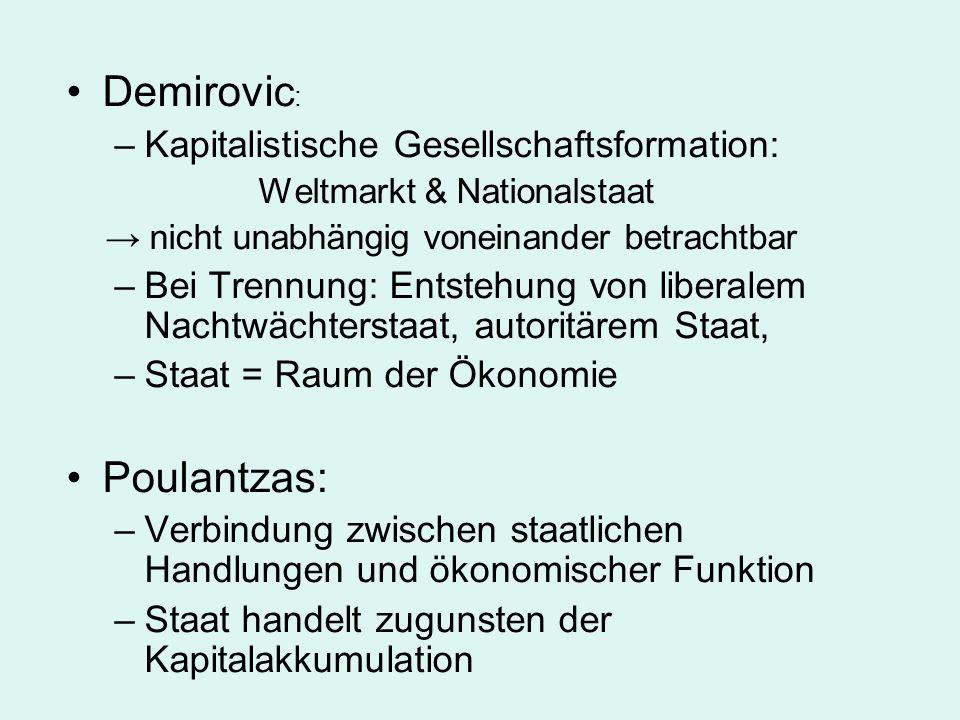 Demirovic: Poulantzas: Kapitalistische Gesellschaftsformation: