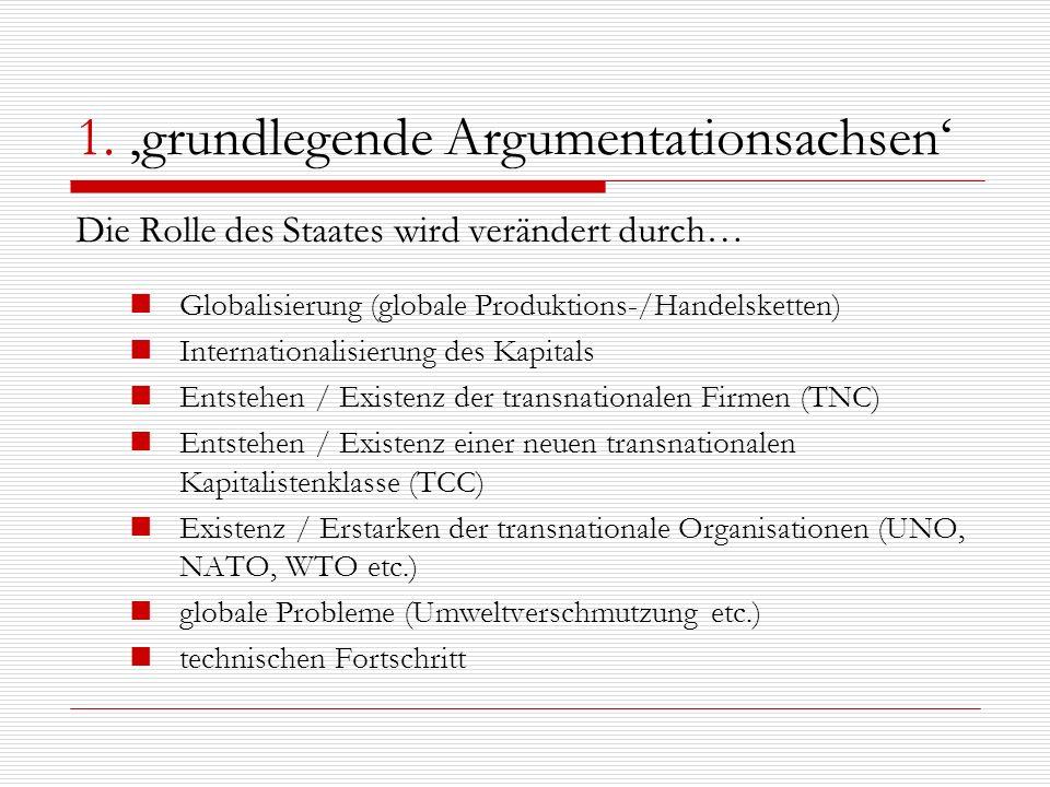 1. 'grundlegende Argumentationsachsen'